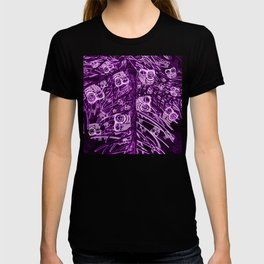 Mosaic of Owls V2 Purple T-shirt