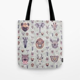 African Mammals Poster and Pattern Tote Bag