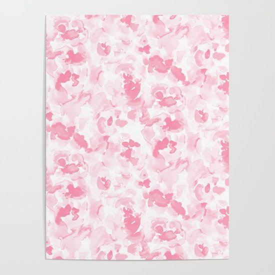 Abstract Flora Millennial Pink by mjmstudio