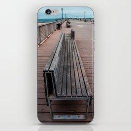 Coney Island Pier Bench iPhone Skin