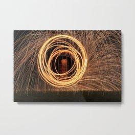 Fire Circles Metal Print