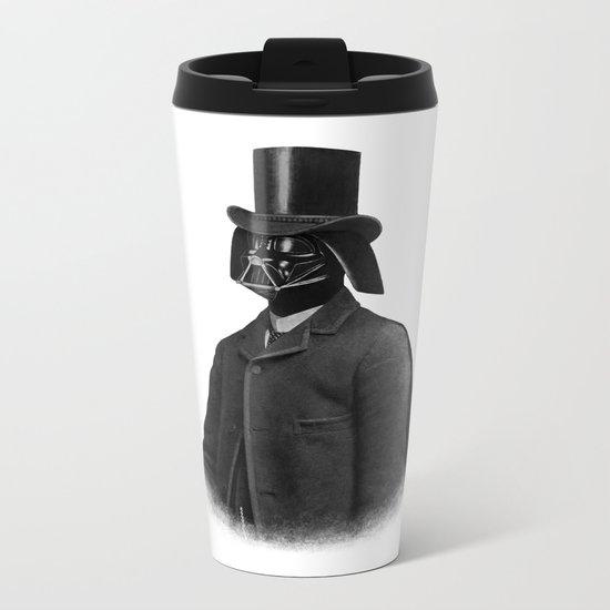 Lord Vadersworth (mono) Metal Travel Mug
