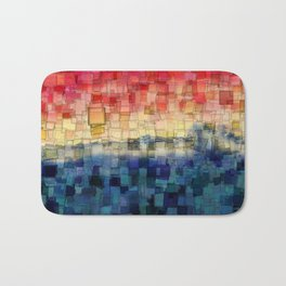 Blue Tide Mosaic Bath Mat