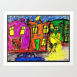 We live in the City Art Print