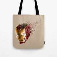 ironman Tote Bags featuring Ironman by EnragedPeasant