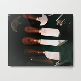 Leather Tools Metal Print