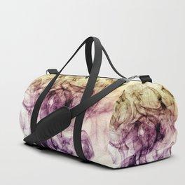 Beautiful Purple Brown Smoky Dust Duffle Bag