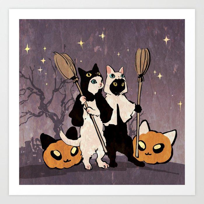 halloween cats Kunstdrucke