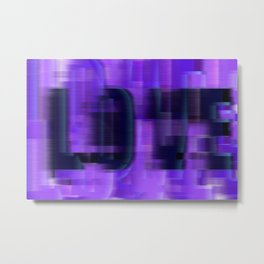 Ultra Violet Love Glitch Metal Print