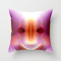 captain Throw Pillows featuring CAPTAIN by Ricardo Alves