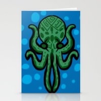 cthulhu Stationery Cards featuring Cthulhu by kelseycadaver