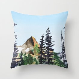 Red Mountain Landscape Throw Pillow
