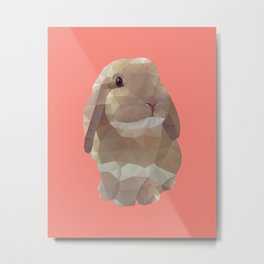 Peanut Bunny the Rabbit Polygon Art Metal Print
