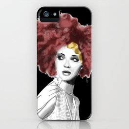 Curly woman iPhone Case