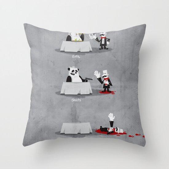 Eating Habits of the Panda Throw Pillow