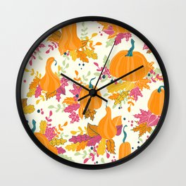 Pupkin patch Wall Clock