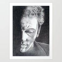 springsteen Art Prints featuring Brilliant Disguise - Springsteen by Roisin Mallon