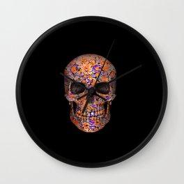 Unique floral Sugarskull Wall Clock