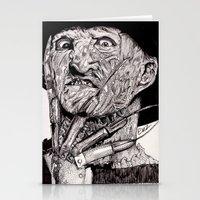 freddy krueger Stationery Cards featuring Freddy Krueger by Emz Illustration
