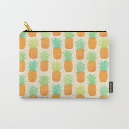 Watercolor Pineapples Carry-All Pouch