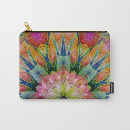 Abstract colorful Fowers Mandala Carry-All Pouch