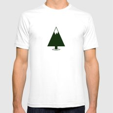 Pine Mountain Lake White Mens Fitted Tee SMALL