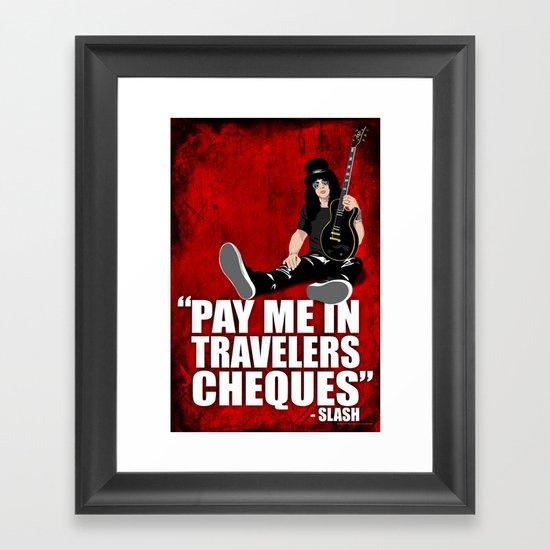 SLASH Quote Framed Art Print