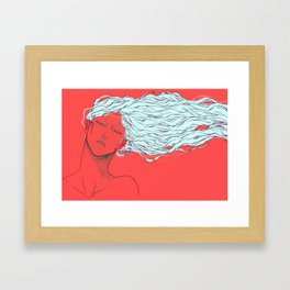 I fell in love with your beautiful mind Framed Art Print