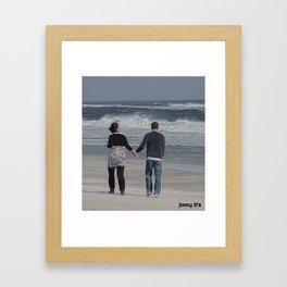 take my hand Framed Art Print
