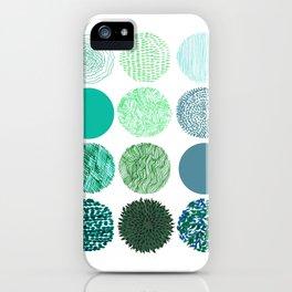 verdant dots. iPhone Case