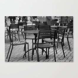 Patterns in greyscale Canvas Print