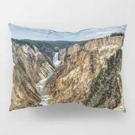 Grand Canyon of Yellowstone River and Lower Falls from Artist Point Pillow Sham