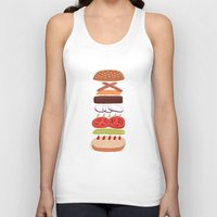 burger Tank Tops featuring Burger by Andrew Mashanov