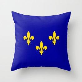 Ile de France country region flag Throw Pillow