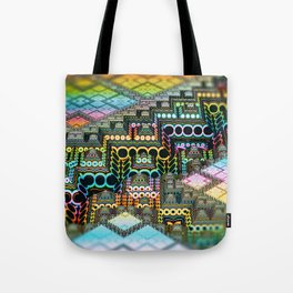 infrastructure IV. Pastel Pyramids Tote Bag