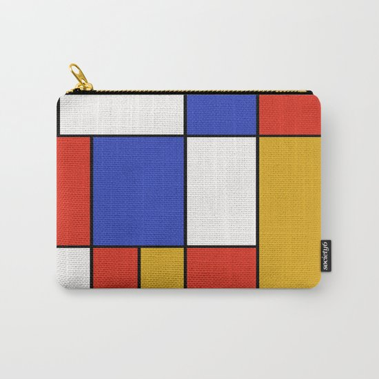 Abstract #401 Mondriaan #8 Carry-All Pouch