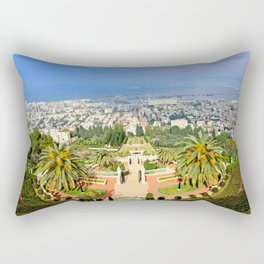 Bahai Gardens Rectangular Pillow