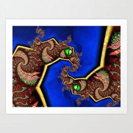 Twin Dragons Art Print