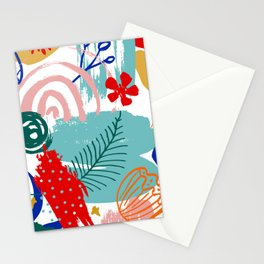 Spring Festival, Botanical, Floral Abstract Stationery Cards