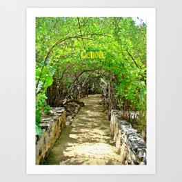 Follow Me to the Cenote, Tulum, Quintana Roo Mexico Art Print