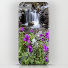 Pink Flowers Mountain Waterfall Slim Case iPhone 6s Plus