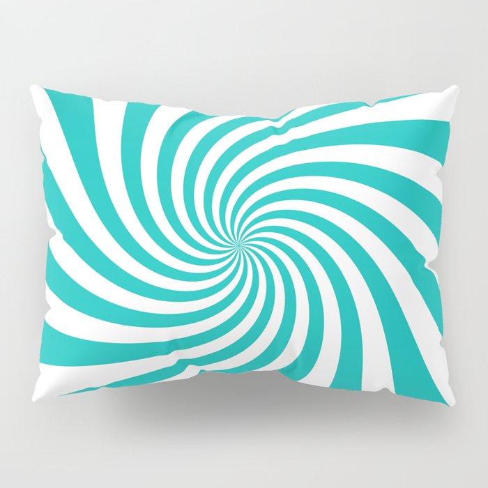 Swirl Tiffany Blue White Pillow Sham