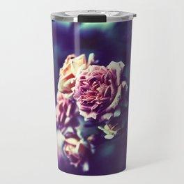 Rose In Blue Fog Travel Mug