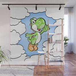 Yoshi in the sky !  Wall Mural