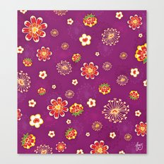 Purple Burst Canvas Print