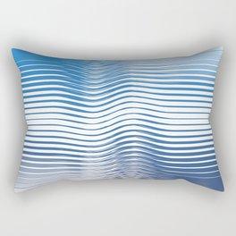 Geometric Ocean Rectangular Pillow
