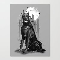 doberman Canvas Prints featuring DOBERMAN by ADAMLAWLESS