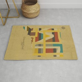 Connecticut state map Rug