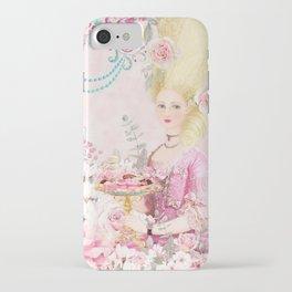Marie Antoinette Flower Tea iPhone Case