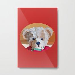 Teddy Bear Portrait Metal Print